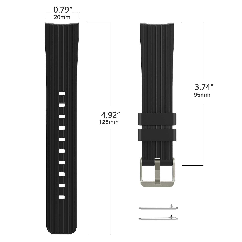 TiMOVO Band for Samsung Galaxy Watch 42mm, [5-Pack] Soft Silicone Strap Fit Samsung Gear Sport/Garmin Vivomove HR/Vivoactive 3 / Moto 360 2nd Gen 42mm Smart ...